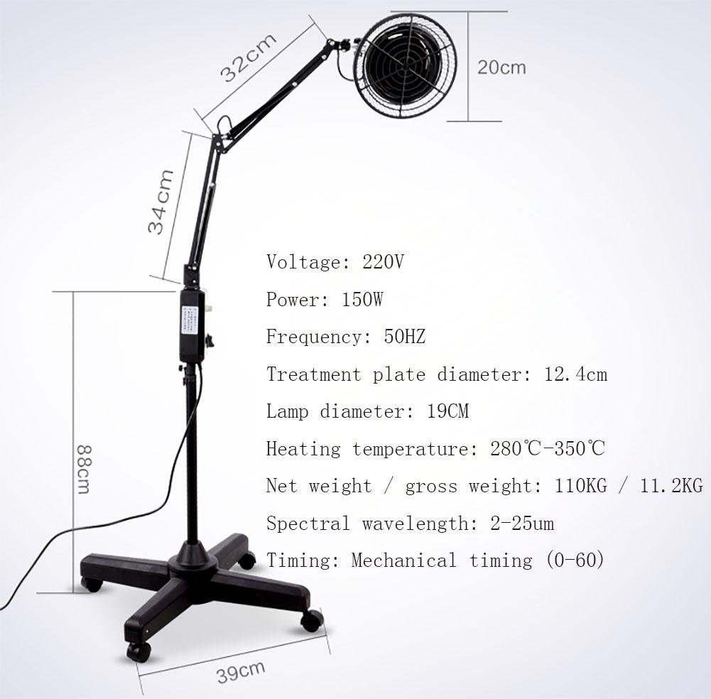 MeiDa Lámpara de calor infrarrojo de energía electromagnética lámpara de terapia TPD para el dolor muscular y frío Alivio Terapia de luz infrarroja: ...