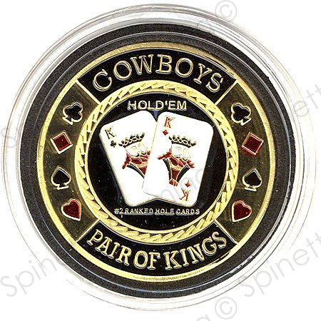 Cowboys Pair of Kings Gold Poker Card - Cowboys Poker