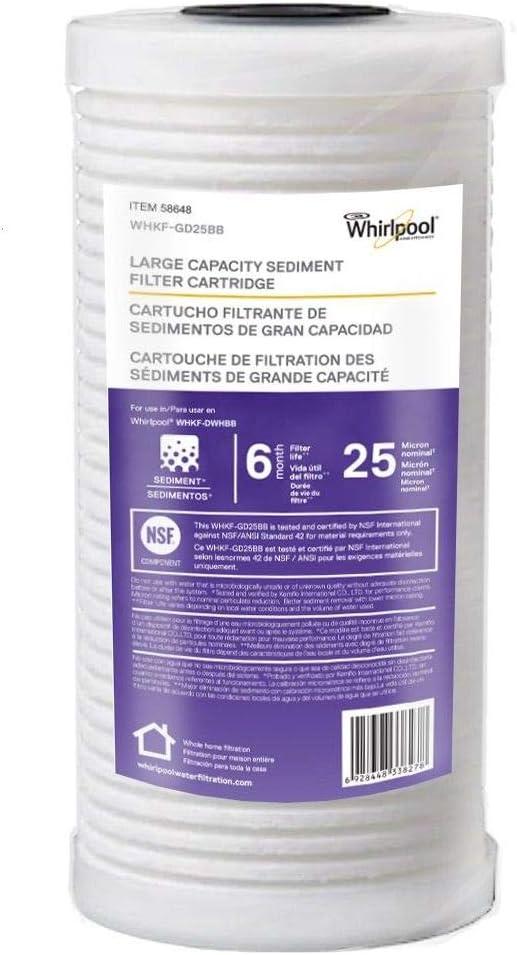 Whirlpool WHKF-GD25BB 10 x 4.5 PP Sediment Filter