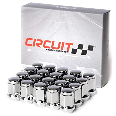 Circuit Performance 12x1.5 Chrome Closed End Bulge Acorn Lug Nuts Cone Seat Forged Steel (20 Pieces): Automotive