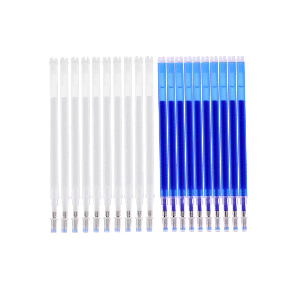 MagiDeal 20pcs Indicatore Automatico Del Tessuto Penna Di Sparizione Cancellabile Aria / Dell'acqua Per Sarti
