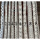 Jimess 27Yards of Asstd Cream Vintage Cutton Lace Ribbon for Decorating,DIY,Floral Designing & Crafts(1-9)