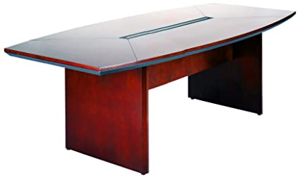 Amazoncom Mayline CTCCRY Napoli W X D BoatShaped - D shaped conference table