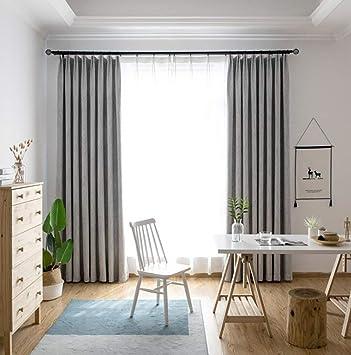 Naturer Vorhänge Wohnzimmer 245x140 Kräuselband Grau Modern Gardinen  Blickdicht Geometrisches Muster Verdunkelungsvorhang Thermovorhang ...