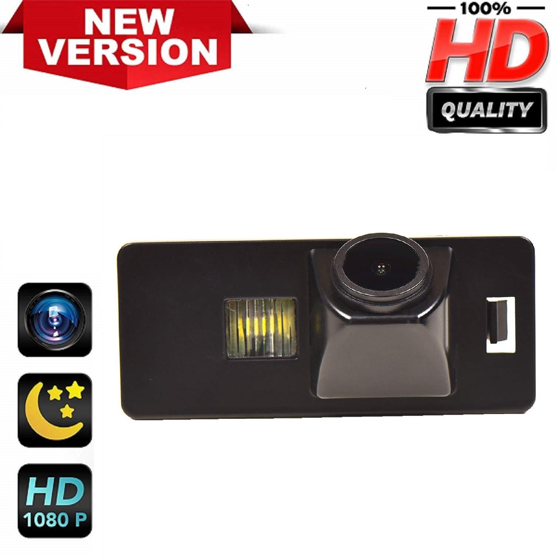 HD 1280x720p Retrocamera 170/° Visione Notturna Impermeabile Telecamera posteriori retromarcia Luce Targa Fotocamera per Audi A1 A3 A4 A5 A6 RS4 TT Q5 Q7 Volkswagen Passat R36