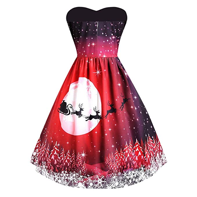 Amazon.com: Vestido para mujer con diseño de cola de gallo ...