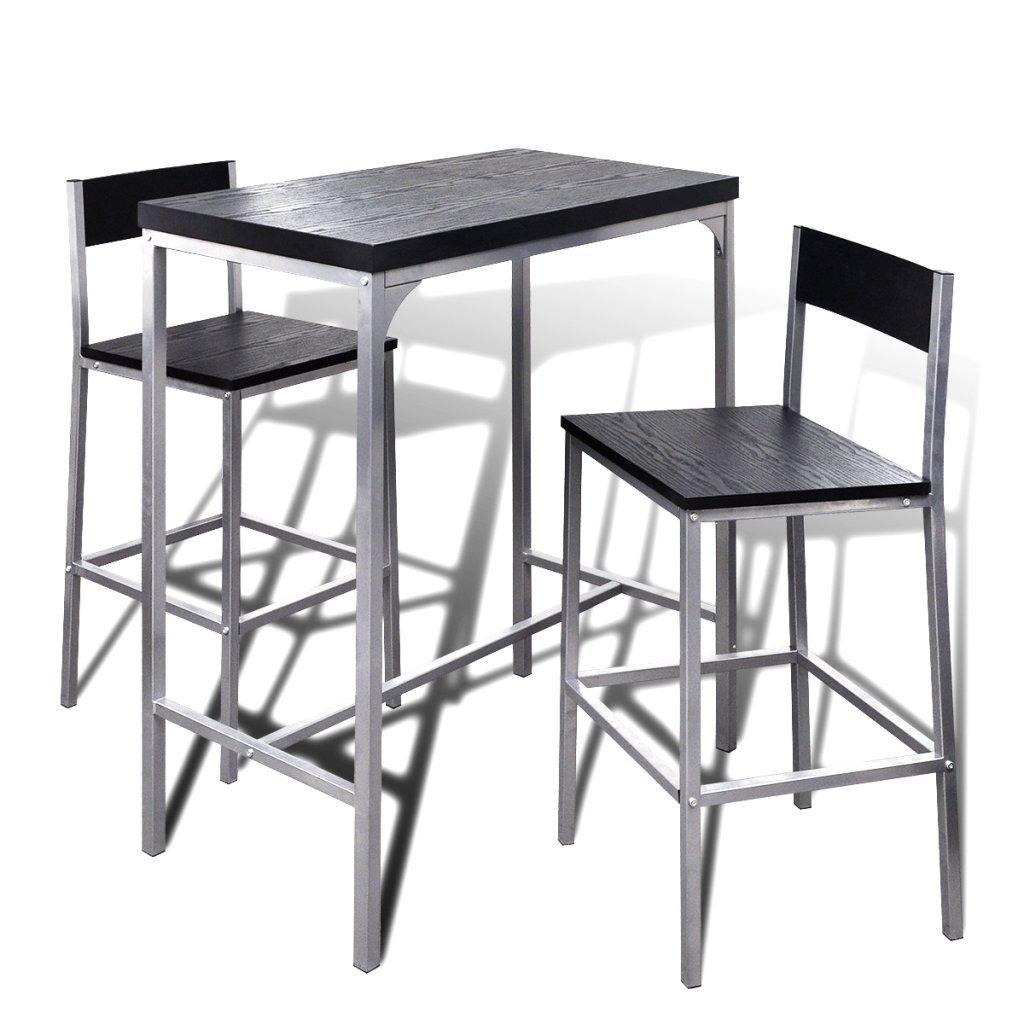 Festnight Jeu de Bar Petit-Déjeuner à Comptoir Élevé 1 Table 2 Chaises