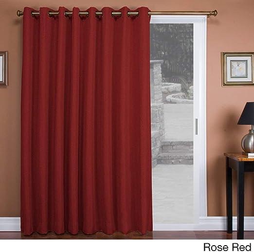 1 pieza Color rosa Color sólido cortina de puerta corredera, rojo ...