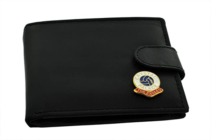 Crystal Palace FC 'The Eagles' Football Club Genuine Black Leather Wallet