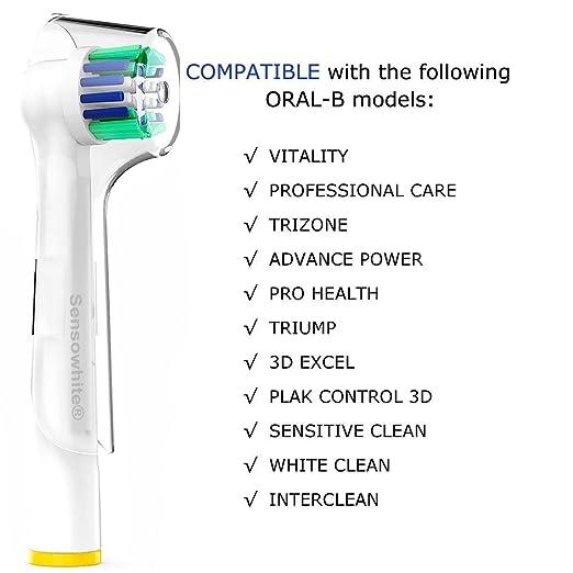 8 Pack Compatible SEB25 Floss Action suave cabezas del cepillo compatible con asas cepillos de dientes el?ctricos de Oral-B. .