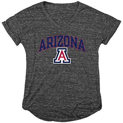 6b22b2a4968 Elite Fan Shop Arizona Wildcats Womens Vneck Tshirt Charcoal - L
