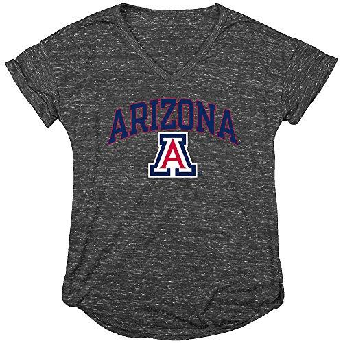 Arizona Wildcats Womens Vneck Tshirt Charcoal   L