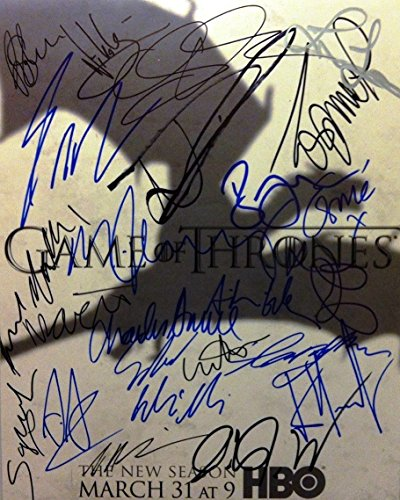 Game of Thrones Cast Signed Autographed 8 X 10 Reprint Photo - Mint Condition