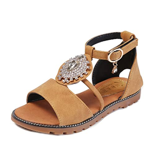 85b4511f19294e Girls Summer T-Strap Sandal Soft Sole Open Toe Non-Slip Princess Sandal  Flats