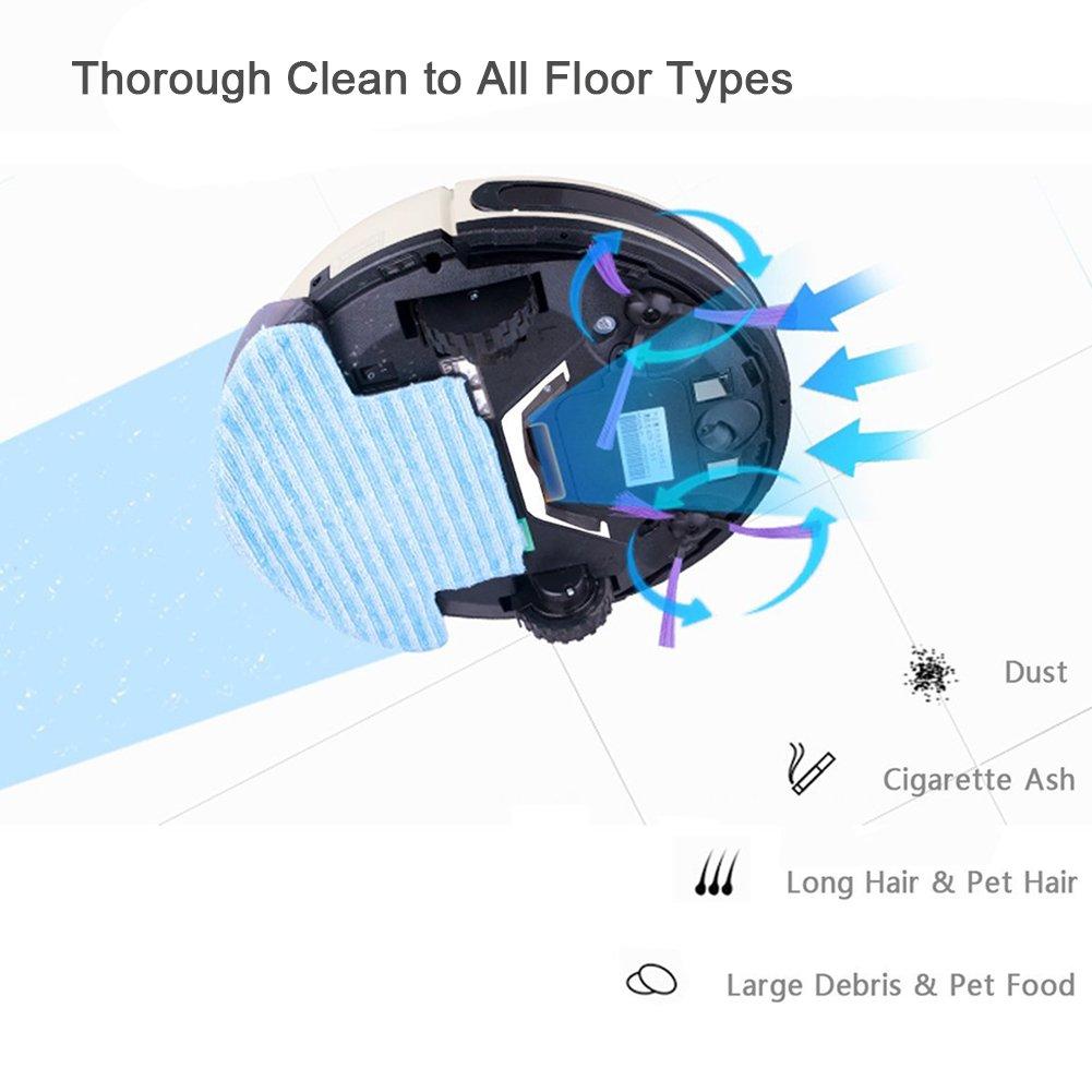 Xshuai - Potente robot aspirador con receptor de infrarrojos y autocarga (adecuado para pelos y todo tipo de suelos) Weiß: Amazon.es: Hogar