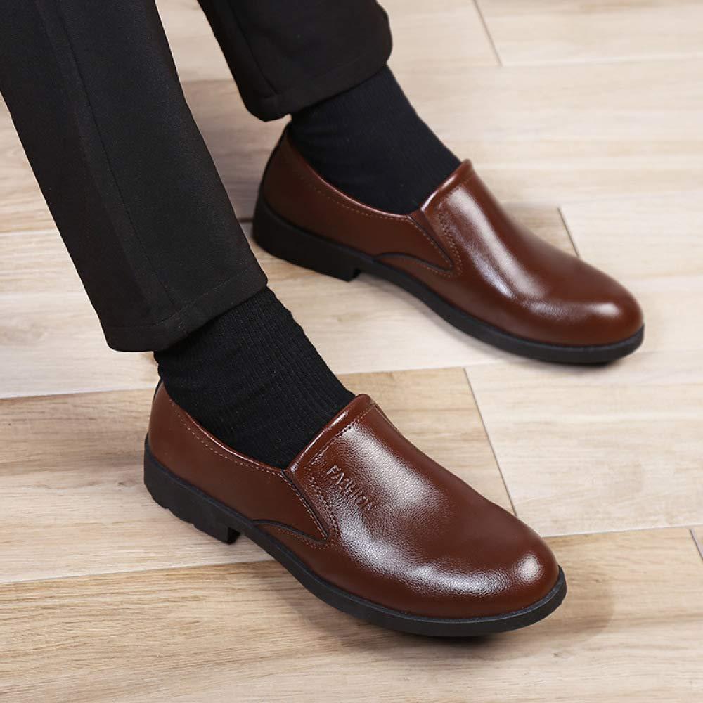 Negro Zapatos De Poner Un Un Un Pie Lok Fu De Los Hombres, Desgaste Formal, Estilo Británico, Vestimenta Casual, De Corte Bajo, Oxford, Zapatos De Los Hombres Marrones ff4b89
