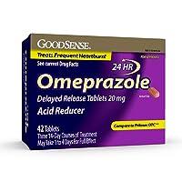 GoodSense Omeprazole Delayed Release Tablets 20 mg, Acid Reducer, Treats Heartburn...