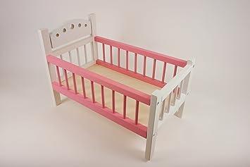 Puppenetagenbett Weiß : Puppenbett rosa weiß aus holz mit bettwäsche cm x