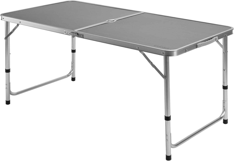 Casaria Mesa de Camping Plegable con asa para Transporte 120x60x70cm de Aluminio Altura Ajustable para jardín Patio
