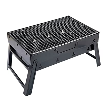 JYKJ Parrilla para exteriores portátil de carbón vegetal de acero inoxidable para barbacoa o barbacoa apta
