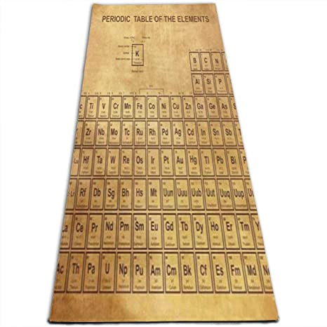Amazon Com Ipoxk Yoga Mat With Mesh Bag Old Periodic Table