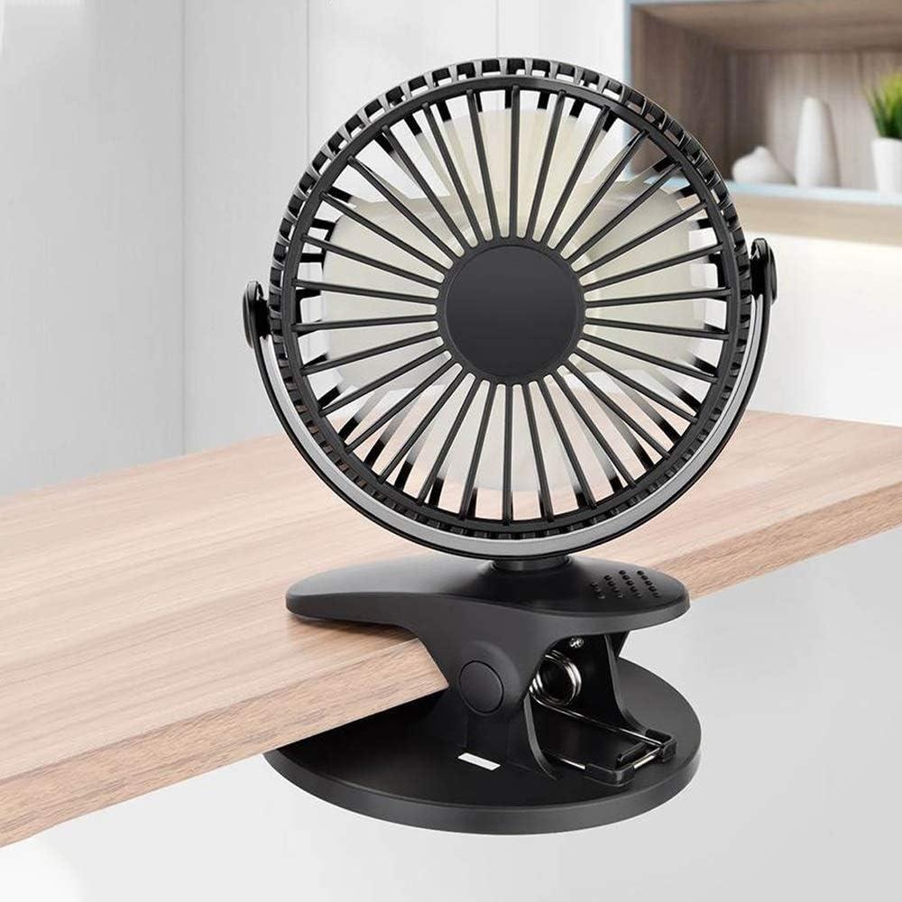 Color : White Air Cooling Fan Portable Desktop USB Fan Mini Clamp Silent Fan 360/° Rotating,Air Fan Home ABS Electric Computer Table Fan