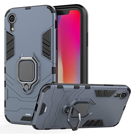 Fetrim Funda iPhone XR, Carcasa Shock Absorción de TPU y PC ...