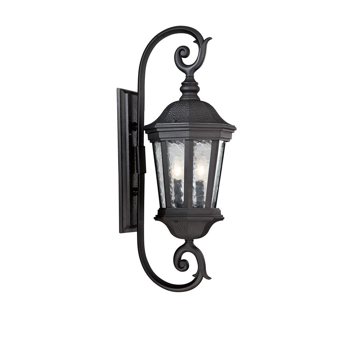 Savoy House 5-5082-BK Hampden 28'' 2-Light Outdoor Wall Lantern in Black