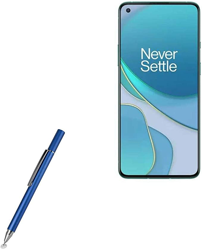 OnePlus 8 Lite Stylus Pen FineTouch Capacitive Stylus Metallic Silver BoxWave Super Precise Stylus Pen for OnePlus 8 Lite