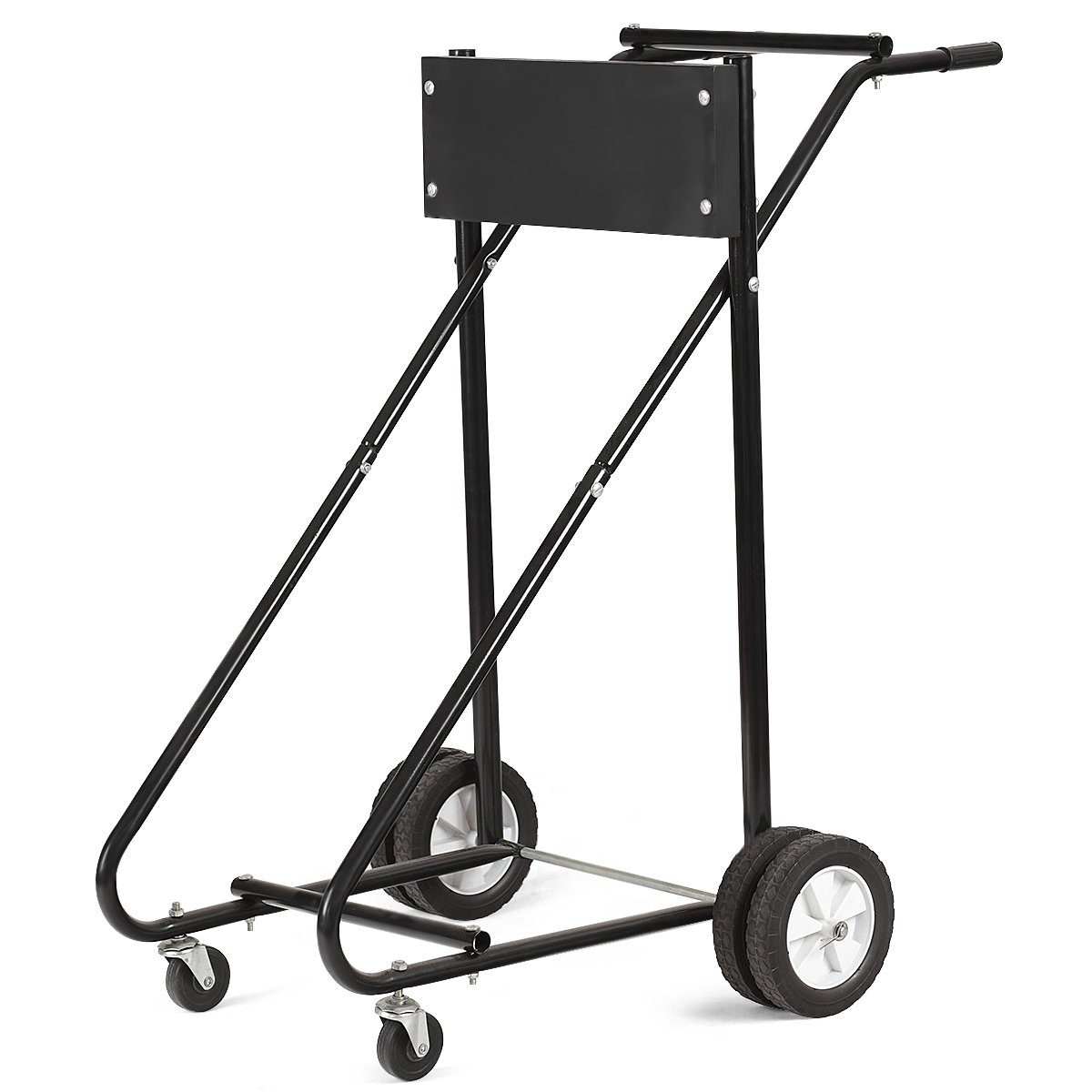 Goplus Boat Motor Stand, 315 LBS Heavy Duty Pro Outboard Engine Carrier Cart Dolly Storage (Black) (Black) by Goplus