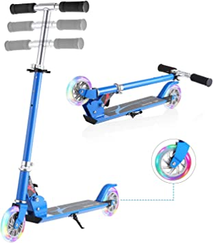 Amazon.com: WeSkate - Patinete plegable para niños con 2 ...