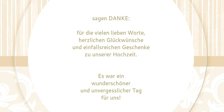 Kartenparadies Danksagung für für für Hochzeitsgeschenke Hochzeit Dankeskarte Streifenzauber, hochwertige Danksagungskarte Hochzeitsglückwünsche inklusive Umschläge   20 Karten - (Format  215x105 mm) Farbe  champagner B01N5RUY5K | Moderne Must a02fa3