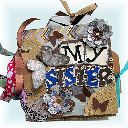 Sisters Mini Album, Premade Scrapbook,Gift for a Sister, Stepsister, Sorority Sisters, Adopted Sister, Best Friend Album, Girl Album, 6