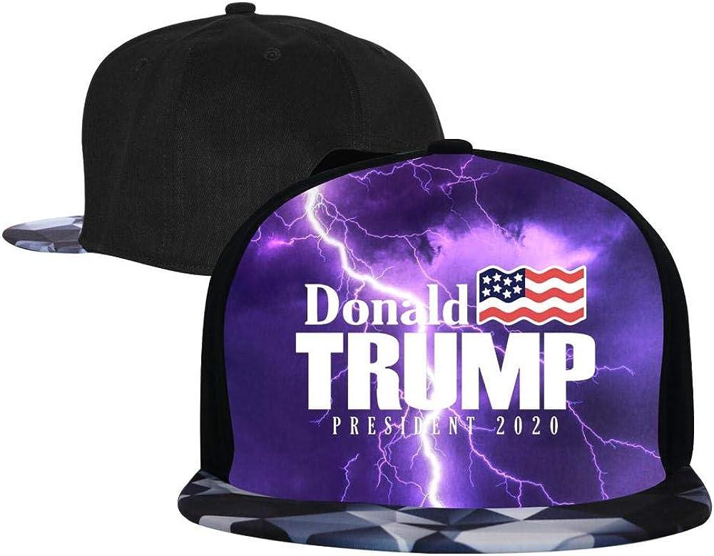 PASPTTO Trump 2020 Hip Hop Hat Mens Fashion Full Frame 3D Print Adjustable Truck Driver Baseball Cap