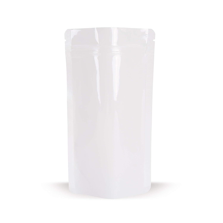 Elke - Bolsas de plástico (100 unidades, 110 x 185 cm), color blanco