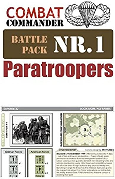 Combat Commanders Battle Pack #1 Paratroopers New