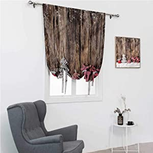 """Roman Shades for Windows Winter Roman Blinds for Window Cute Traditional Xmas 39"""" Wide by 64"""" Long"""