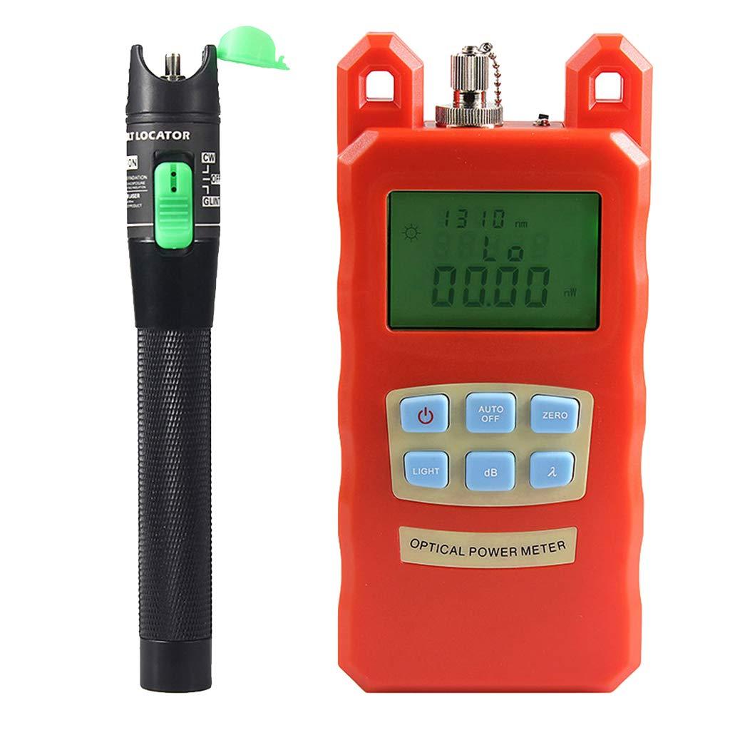 Prettyia Pack Portable Optical Fiber Power Meter Tester Measure -70dBm~+10dBm + 20mW 15KM Visual Fault Locator Fiber Tester Detector Meter Pen