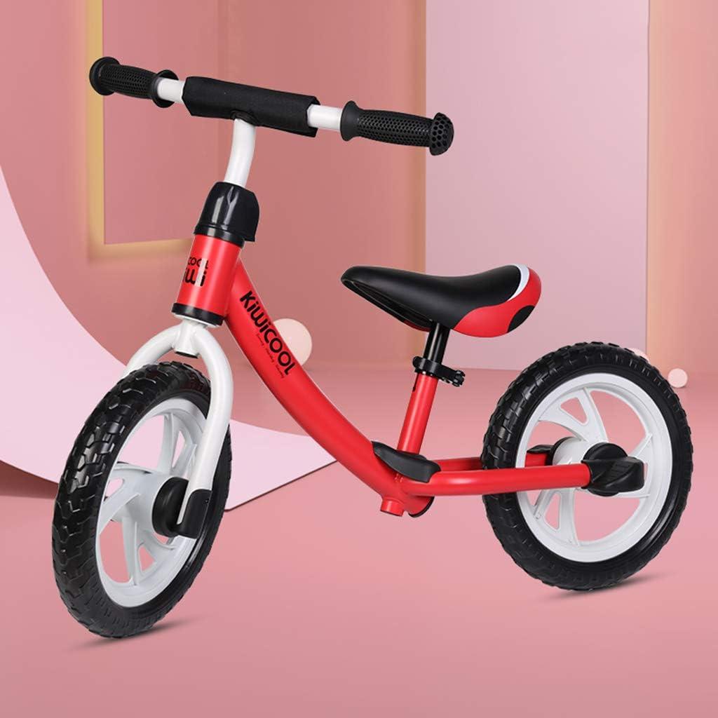 GASLIKE Bicicleta de Equilibrio Ajustable para niños, sin Pedal de Bicicleta de Entrenamiento para niños de 1,2,3,4,5,6 niños pequeños Ruta Bicicletas Bicicletas de Equilibrio,Rojo
