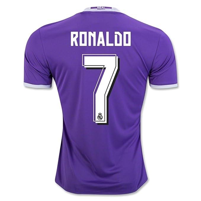 2016 2017 Real Madrid CF 7 Cristiano Ronaldo Away Football Soccer Jersey In  Purple  Amazon.co.uk  Sports   Outdoors ef2daaf6f64c0