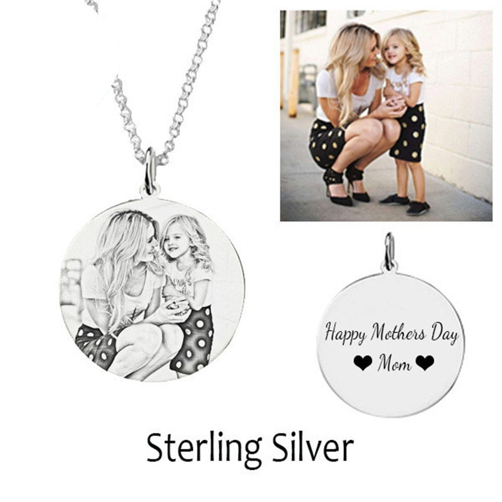 set adil Fashion Private Customized Necklace Personalized Photo Necklace Round