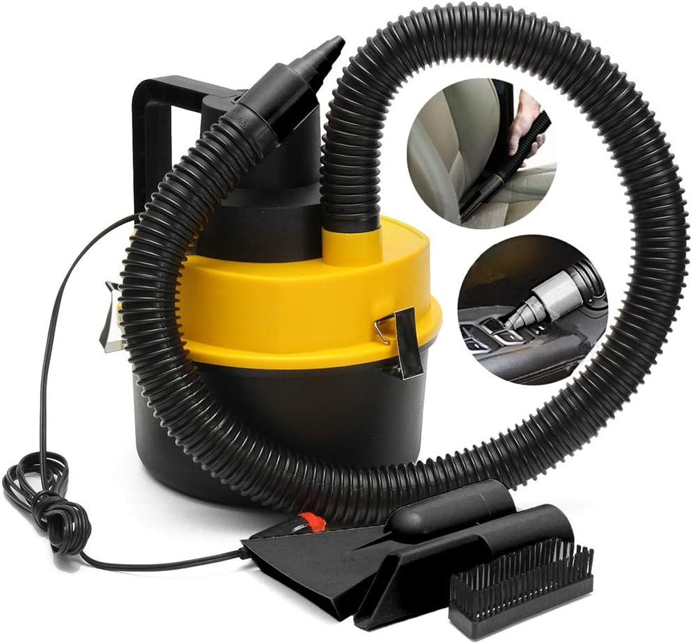 Wet Dry Vac Vacuum Cleaner, 12V Wet Dry Vac Vacuum Cleaner Inflator Portable Turbo Hand Held for Car, Small Shop Vacuum Cleaner