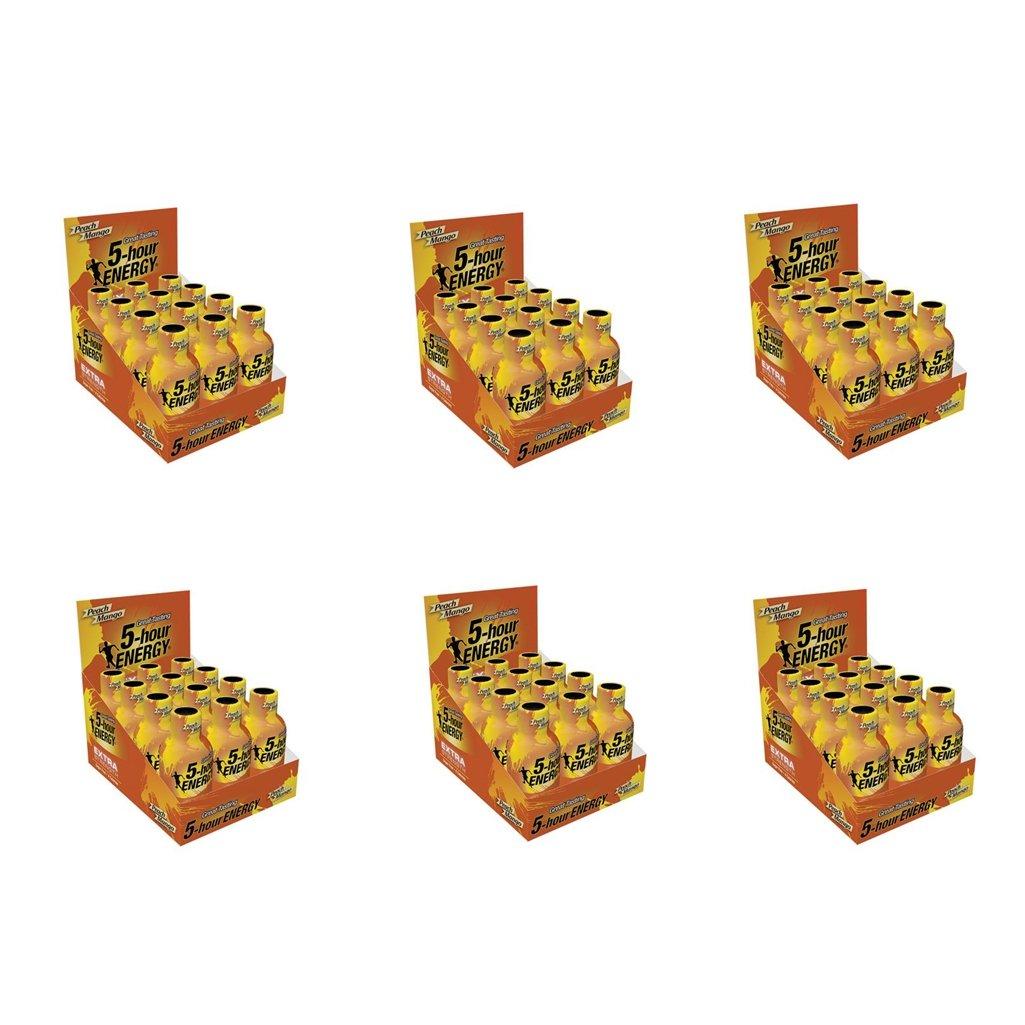 5 Hour Energy Shot Extra Strength Peach Mango- 72 Pack of 2 Ounce Bottles