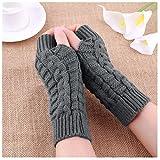 Winter Warm Knitted Gloves Fingerless Soft Warm Mitten Gloves for Work Writing