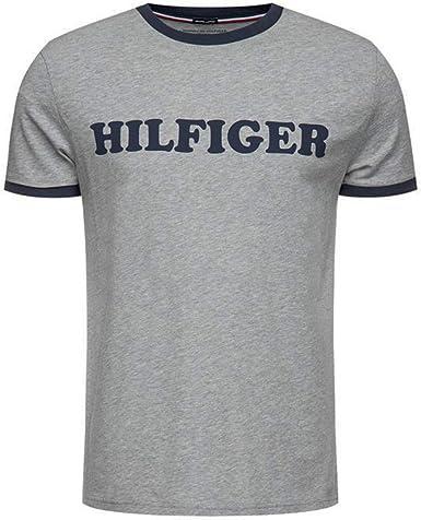 Tommy Hilfiger - Camiseta en algodón orgánico con Logo: Amazon.es ...