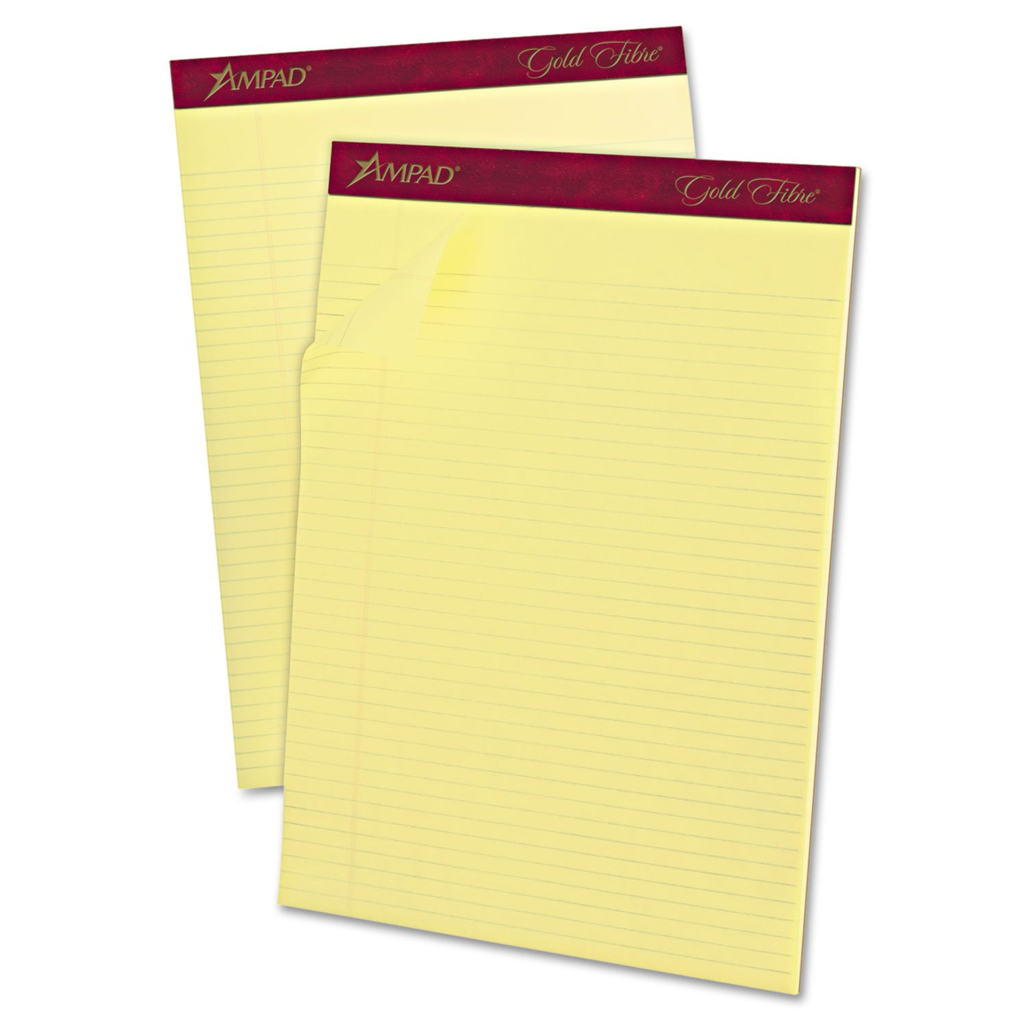 Ampad 20022 Perforated Pads,Narrow,50 Shts,8-1/2-Inch x11-3/4-Inch,Canary by Ampad