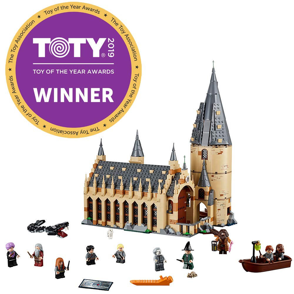 LEGO Harry Potter Hogwarts Great Hall 75954 Building Kit and Magic Castle Toy, Fantasy Creatures, Hermione Granger, Draco Malfoy and Hagrid (878 Piece)