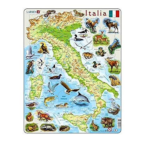 Carte Italie Jeux.Larsen Puzzle Puzzle K83 Italie Carte Physique Amazon
