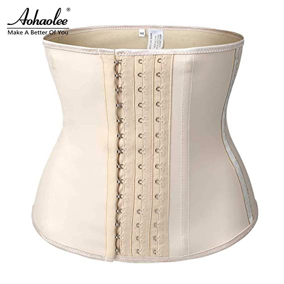 38d01e43d4 HITSAN INCORPORATION Aohaolee Hot Shapers Compression Latex Waist Trainer  Corsets Body Shapers Latex Waist Cincher Weight