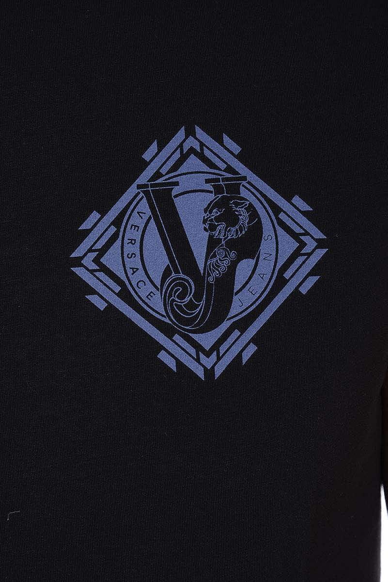 Versace Jeans Men/'S T-Shirt B3GQA736 Black Jersey COT Pluto